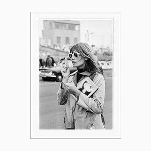 Stampa Francoise Hardy in resina argentata con cornice bianca di Victor Blackman