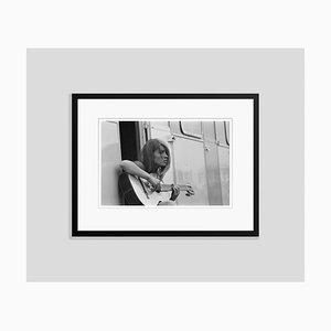 Francoise Hardy Archival Pigment Print Framed in Black by Giancarlo Botti