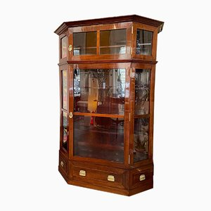 Antique Display Cabinet with Top, 1910s