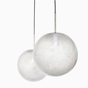 Ball Pendant Lamp from Glashütte Limburg, 1960s