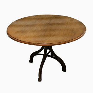 Antique Round Dining Table by Michael Thonet for Gebrüder Thonet Vienna GmbH