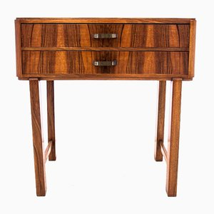 Polish Art Deco Side Table, 1940s