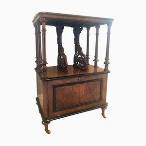 Victorian Inlaid Burr Walnut Music Cabinet