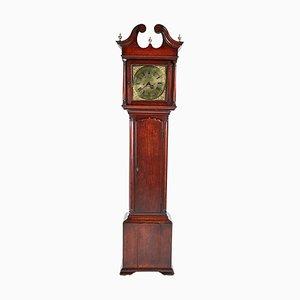 Antike Nussholz Uhr aus Messing in Gesicht-Optik