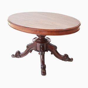 Viktorianischer Ovaler Mahagoni Tisch