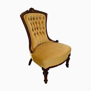Victorian 19th Century Walnut Inlaid Chair