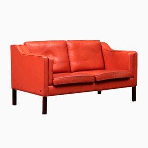 Danish Leather 2-Seater Sofa from Hurup Møbelfabrik, 1980s