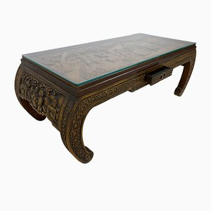 Chinese Hand-Carved Coffee Table, 1930s