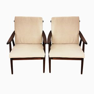 Czechoslovakian Armchairs from TON, 1960s, Set of 2