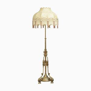 Viktorianische Messing Stehlampe von RW Winfield of Birmingham