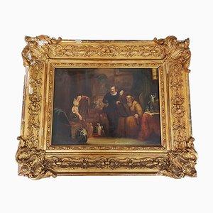 Francois MJ Delporte, Antiker Notar Gemälde, 19. Jahrhundert
