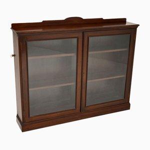 Antique Victorian Mahogany 2-Door Bookcase