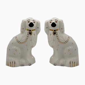 Mid-Century Staffordshire Ceramic Spaniel Mantle Dogs 1378-4 from Beswick England, 1960s, Set of 2