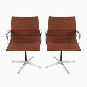 Drehbare EA 108 Armlehnstühle von Charles & Ray Eames für Vitra, 1970er, 2er Set