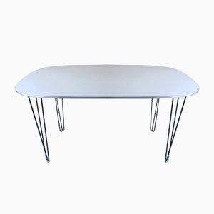Danish Elliptical Dining Table on Hairpin Legs, 1970s