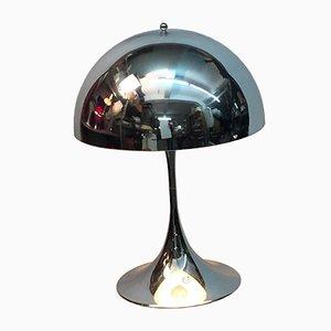 Lampada da tavolo grande in metallo cromato di Verner Panton per Louis Poulsen, Danimarca, anni '70