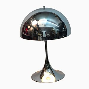 Large Danish Chrome Panthella Table Lamp by Verner Panton for Louis Poulsen, 1970s