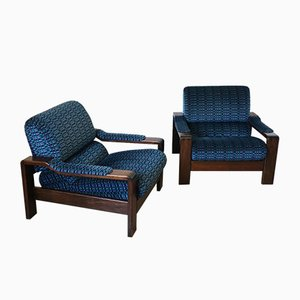 Scandinavian Rosewood Lounge Chairs, 1960s, Set of 2