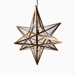 Vintage Brass Star Ceiling Lamp