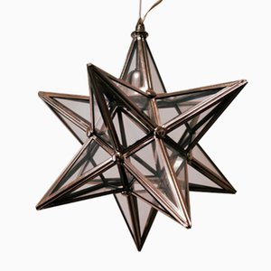 Vintage Silver Star Ceiling Lamp