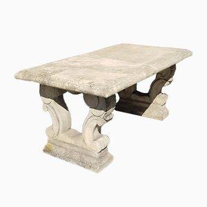 Gegossener Gartentisch aus Sandstein, 1980er
