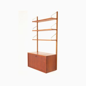 Vintage Danish Teak Wall Unit by Poul Cadovius for Cado, 1960s