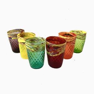 Murano Glass Water Glasses by Mar'yana Iskra for Vetrati, 2004, Set of 6