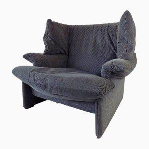 Black & Grey Portovenere Lounge Chair by Vico Magistretti for Cassina, 1980s