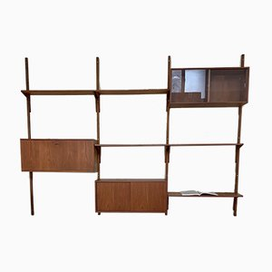 Mid-Century Danish Teak Wall Units by Rud Thygesen, Johnny Sørensen for H.G. MØBLER, Set of 12