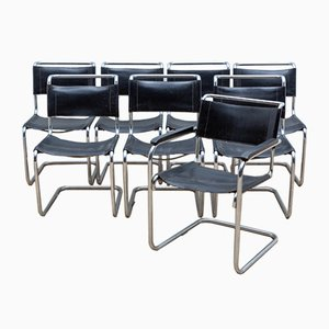 Dining Chairs by Mart Stam & Marcel Breuer for Thonet, 1970s, Set of 8