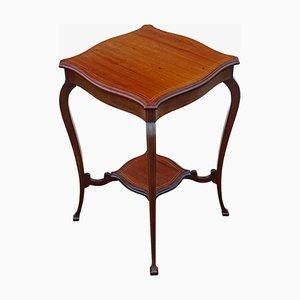 Antique Edwardian Inlaid Mahogany Side Table, 1905