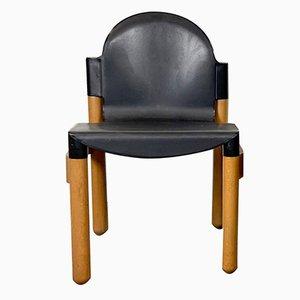 Black Flex Chair by Gerd Lange for Thonet, Set of 4 1980s