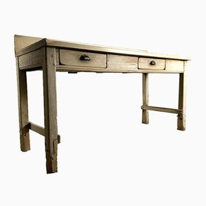 Mesa de trabajo de panadero francés antiguo