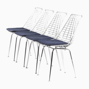 Flamingo Wire Chairs by Braakman and Dekker for Pastoe, 1960s, Set of 4