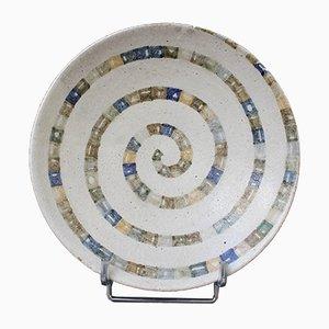 Italian Ceramic Decorative Bowl by Bruno Gambone, 1980s
