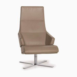 Olive Green & Brown Leather Armchair from Ligne Roset