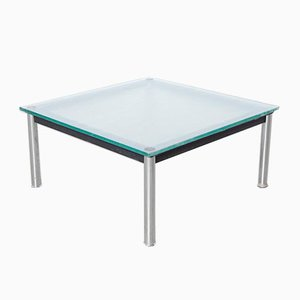 Lc10-p Chrome Coffee Table by Le Corbusier for Cassina