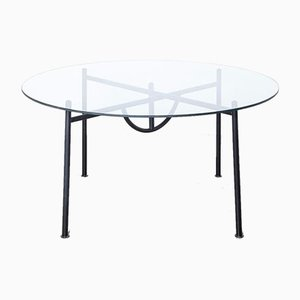Table with Round Glass Top by Nina Freed for Philippe Starck