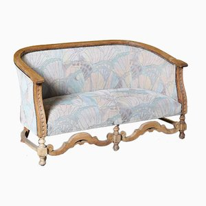 2-Seater Bench with Oak Frame