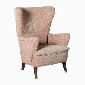 Vintage Armchair with Curly Pattern