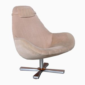 Swivel Lounge Chair with Ribbed Fabric
