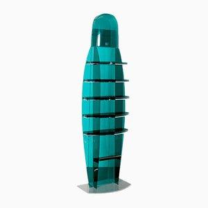 Teal Green & Plexiglass Display Case