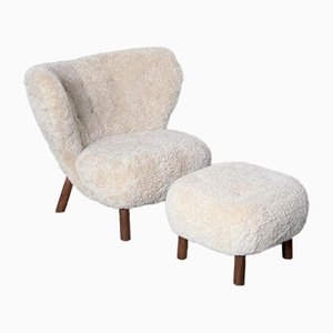 Small Petra Vb1 Armchair & Atd1 Pouf, Set of 2