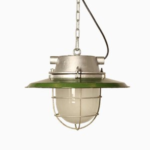 Industrial Green Enamel Hanging Light from Cccp