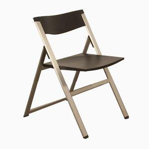 Model P08 Black Stainless Folding Chair by Justus Kolberg for Tecno