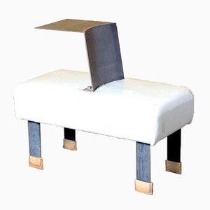 White Chair with Built-In Plateau