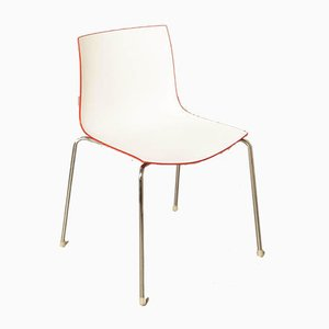 White & Red Catifa 46 Chair by Studio Lievore Altherr Molina for Arper