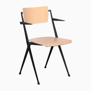 Pyramide Chair by Wim Rietveld with Blonde Armrests