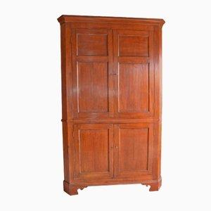 Large Antique Oak Corner Cabinet