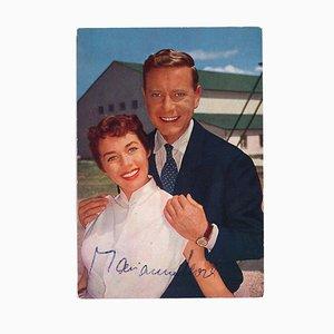 Desconocido - Retrato de Marianne Koch y Dieter Borsche - años 60